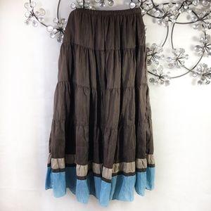 Boden Silk Broomstick Skirt